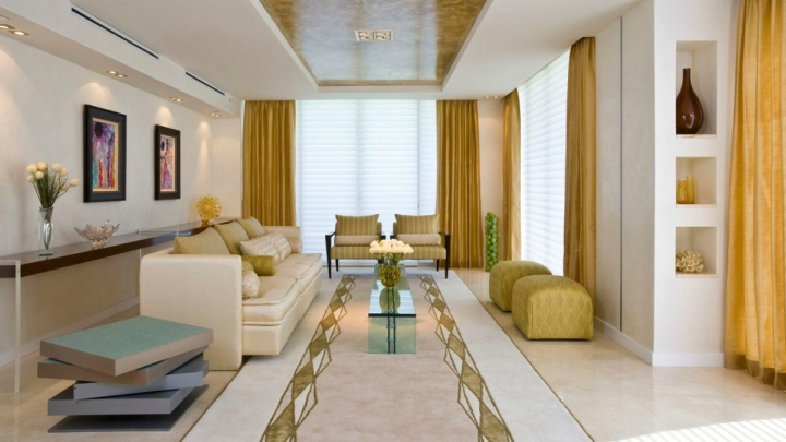 How to decorate a rectangular living room - How to decorate a family room ...