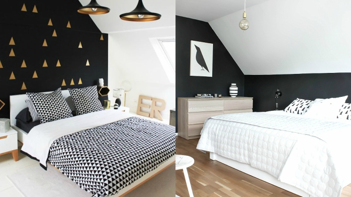 decorate in black and white