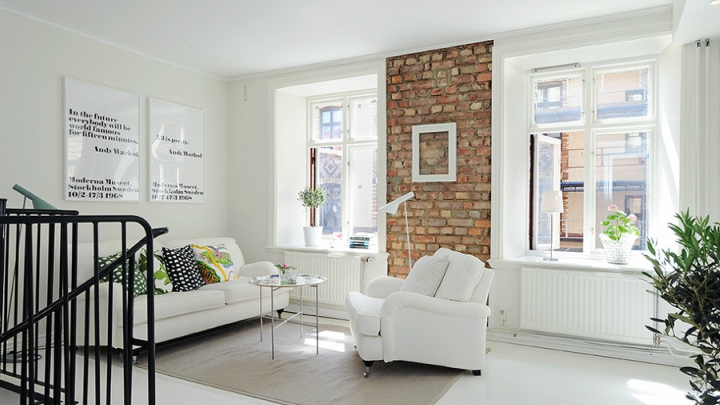 Ideas to take full advantage of the brick walls seen