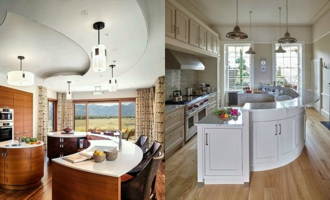 Ideas to play with the curved lines in your decoration