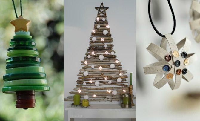 Ideas For A Christmas Decoration With Recycled Materials Bixideco Com