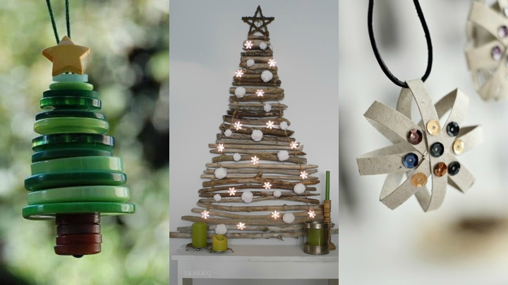 Ideas For A Christmas Decoration With Recycled Materials