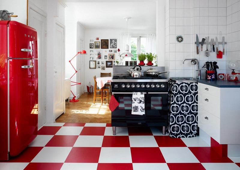 Retro Style Interior Design In The Apartment