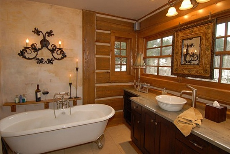 How To Decorate The Bathroom In Rustic Style