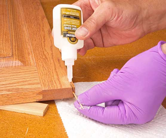 how to repair cracked wood
