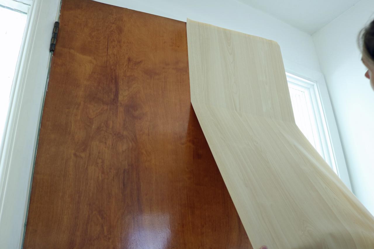 adhesive film to an interior door