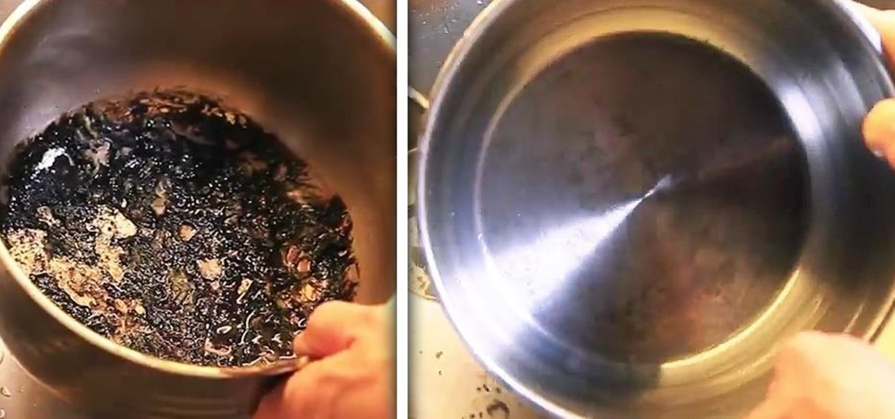 how to get burnt food off pan