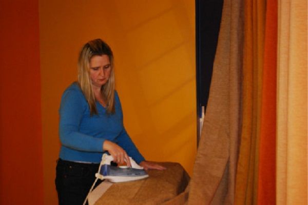 how to iron linen curtains