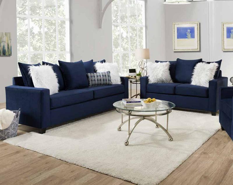 How to Match a Blue Sofa
