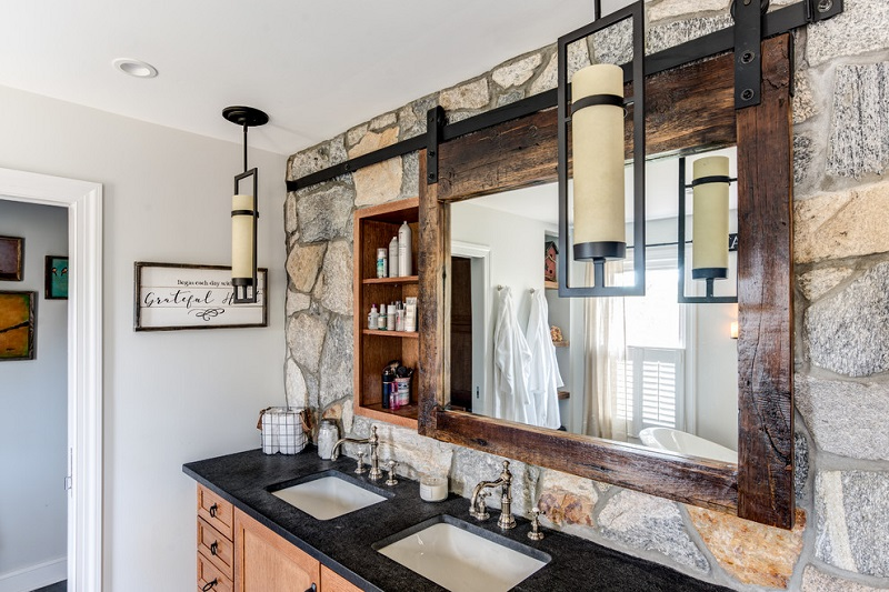 What is a rustic mirror like?